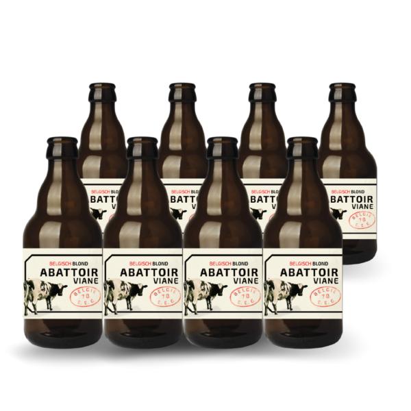 8 flesjes bier van Abattoir uit Geraardsbergen